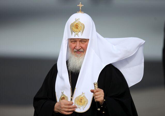 Patriarca Kirill, chefe da Igreja Ortodoxa Russa