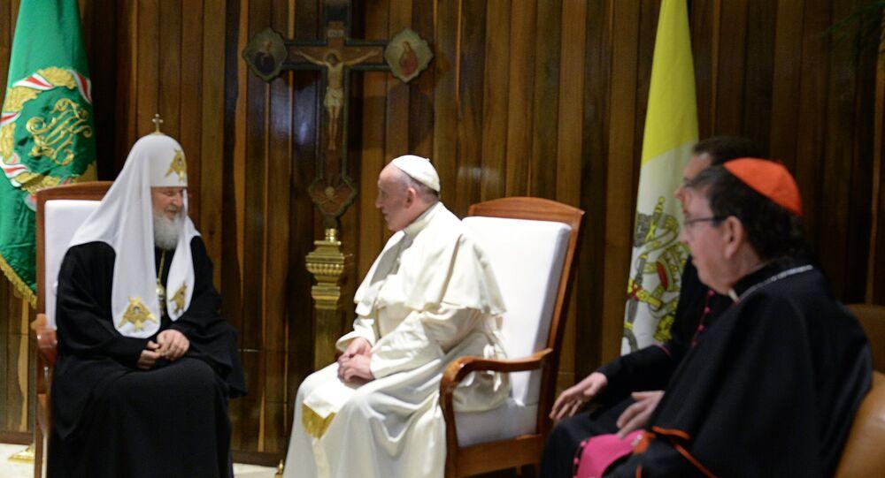 Patriarca Kirill e Papa Francisco se reúnem em Havana, Cuba