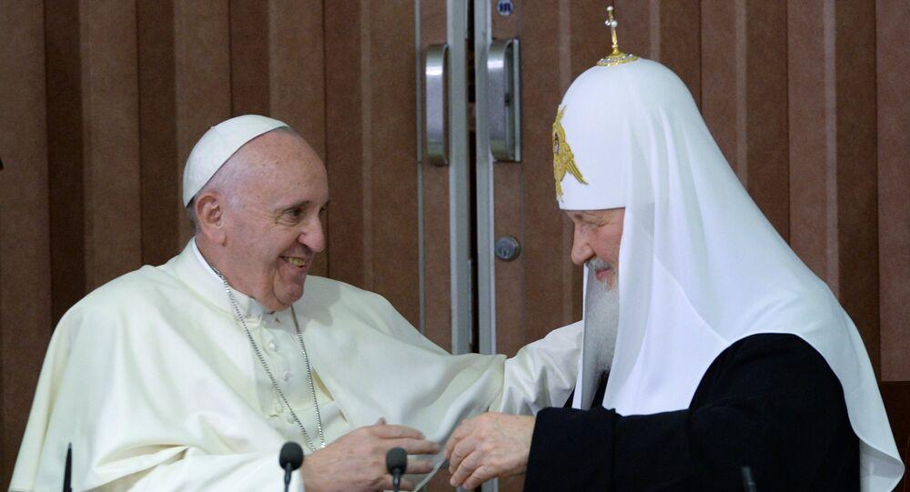 Papa Francisco e Patriarca Kirill se reúnem em Havana