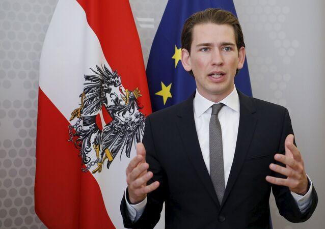 Sebastian Kurz, ex-ministro de Relações Exteriores e atual chanceler da Áustria, o mais jovem a comandar o governo do país