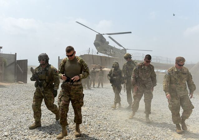 Soldados norte-americanos em distrito de Khogyani, província de Nangarhar, Afeganistão, 13 de agosto de 2015