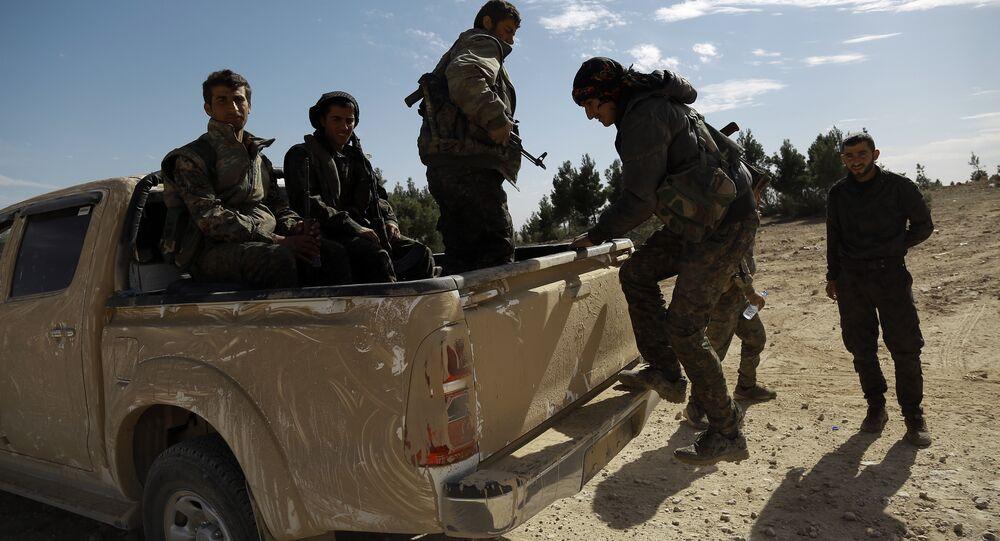 Soldados das Forças Democráticas Sírias