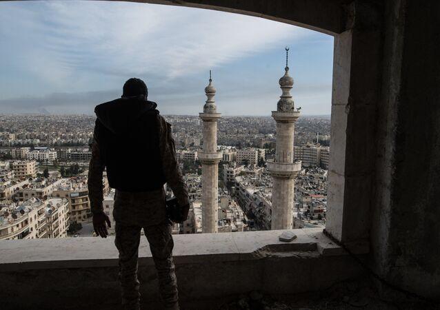 Cidade de Aleppo, Síria, 2016