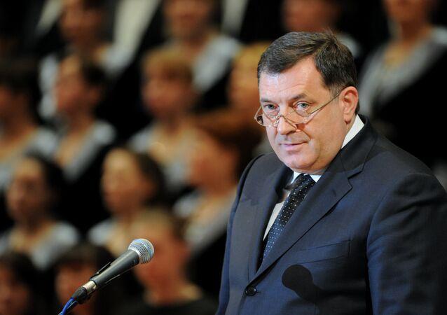 Milorad Dodik, o presidente da República Sérvia. Foto de arquivo