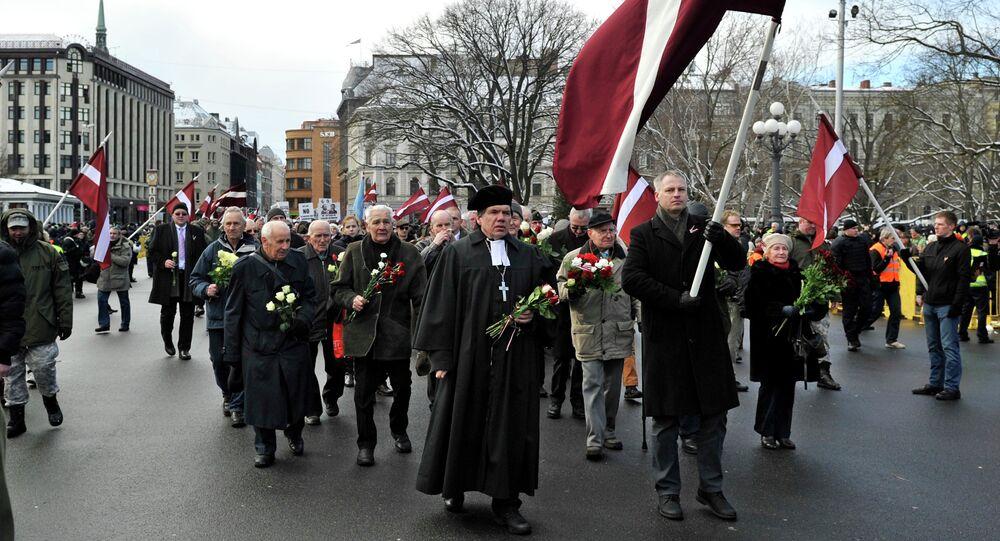 Comemoração do Dia dos Legionários em Riga, 16 de março de 2014