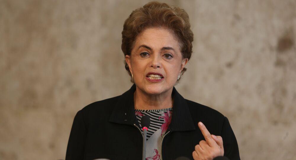 A presidenta da República, Dilma Rousseff, durante entrevista coletiva, no Palácio do Planalto.