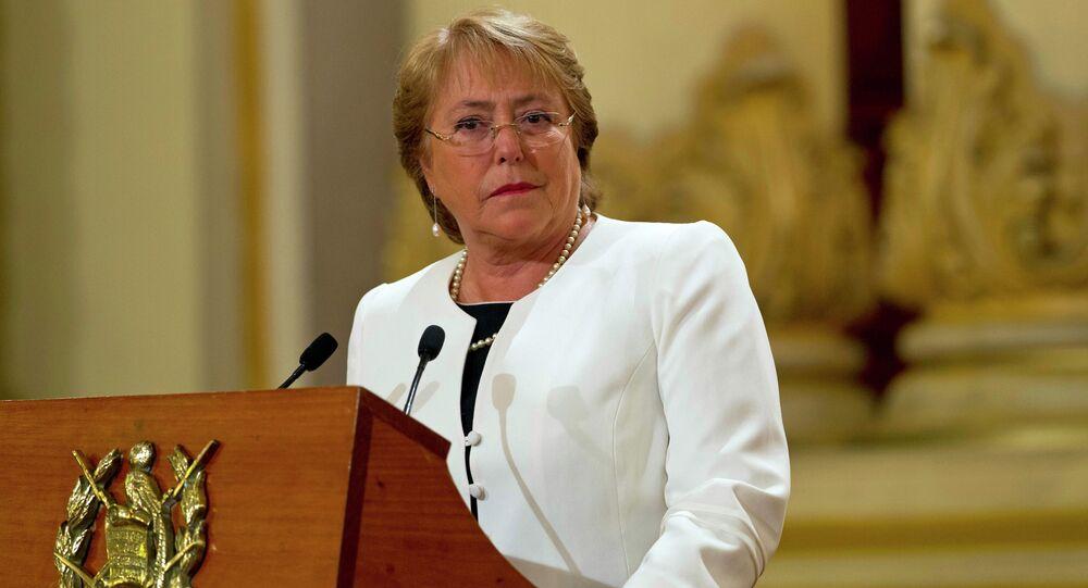 A presidente do Chile, Michelle Bachelet