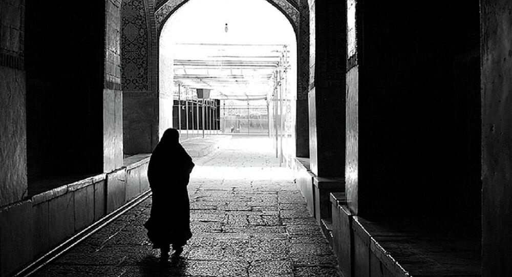 Uma mulher de hijab