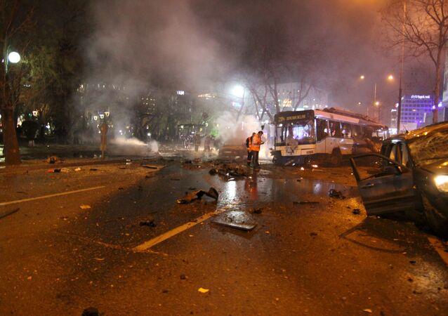 Local de explosão em Ancara