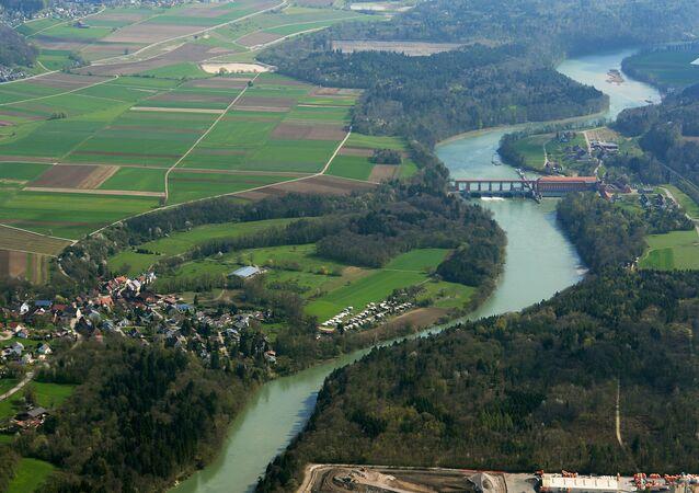 Arredores de Genebra vistos do ar (foto de arquivo)