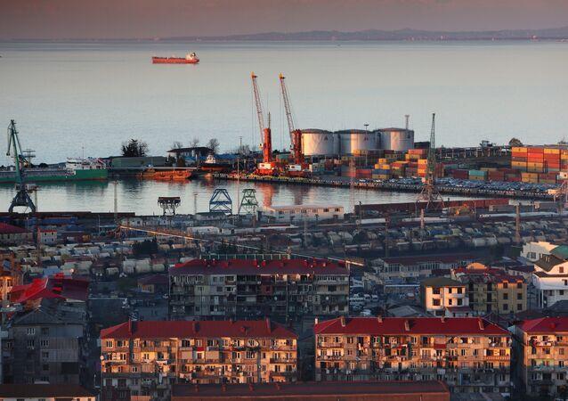 Porto em Batumi, na Geórgia