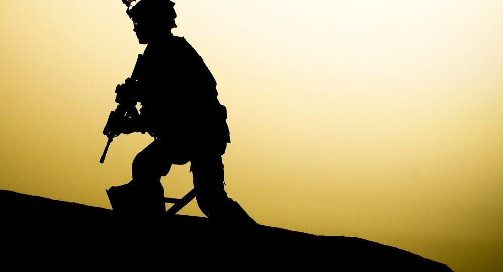 Soldado dos EUA no Iraque (foto de arquivo)