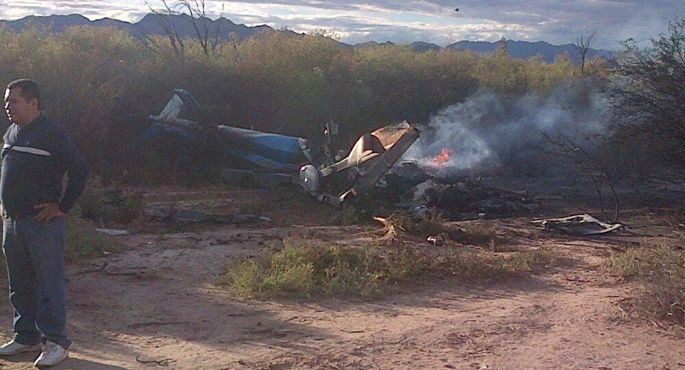 Accidente de helicóptero na Argentina