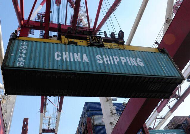 Porto de Qingdao, na província chinesa de Shandong
