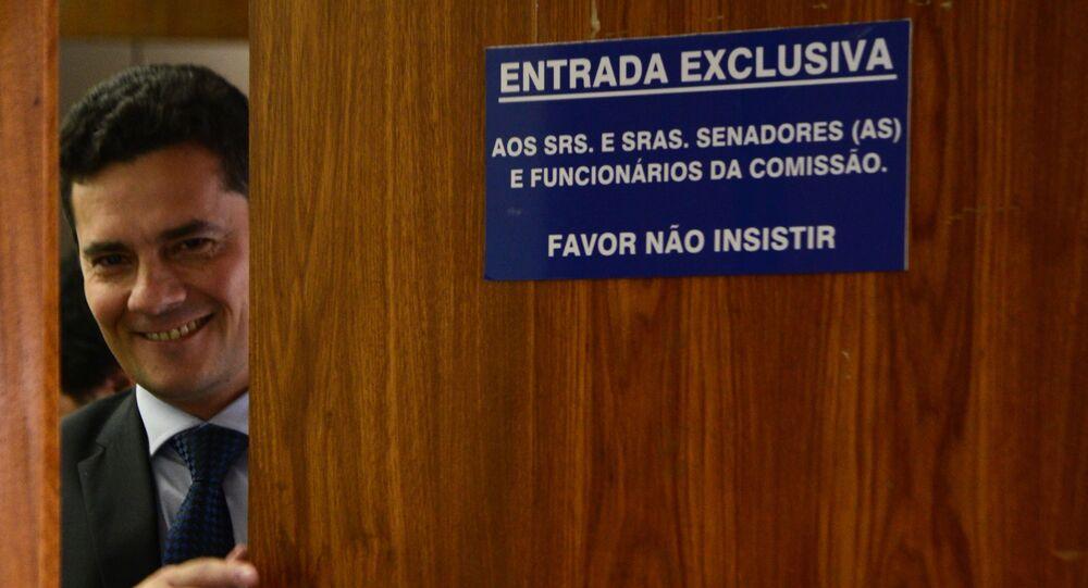 O então juiz federal Sérgio Moro
