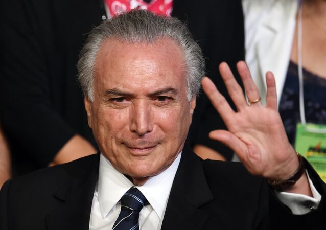Michel Temer em Brasília, em 12 de março de 2016