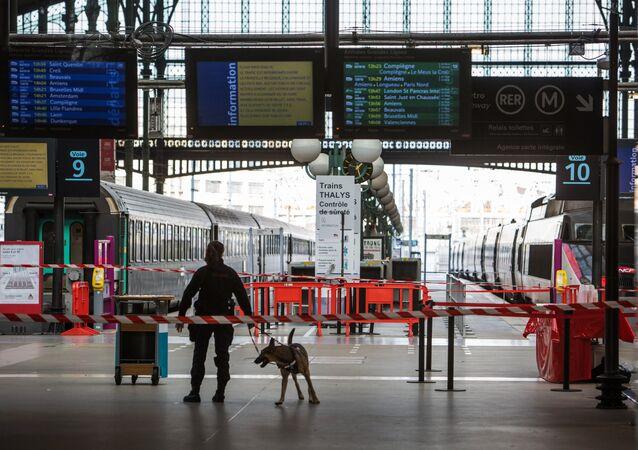 Na estação do Norte em Paris, trens da empresa Thalys que tinham partido rumo à Bélgica, retornam à capital francesa, impedidos de cruzar a fronteira por razões de segurança