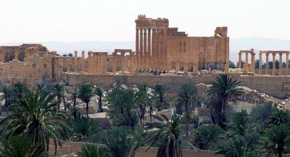 Vista geral da cidade de Palmira, Síria
