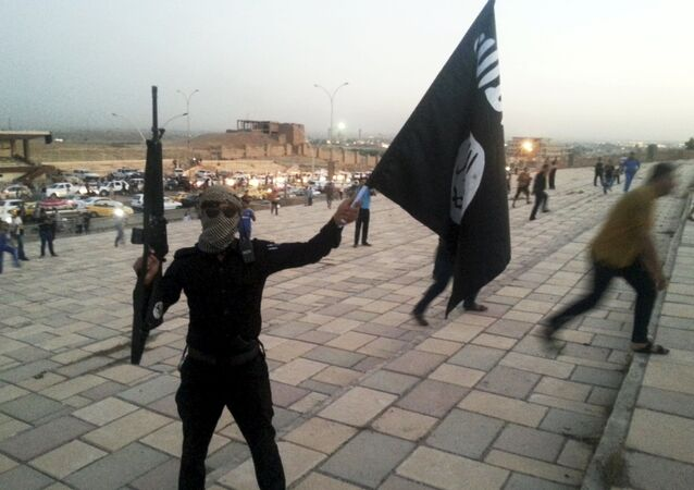 Militante do Daesh em Mosul, Iraque