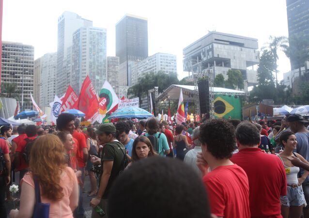 Manifestação pela democracia realizada no Rio de Janeiro em 31 de março de 2016