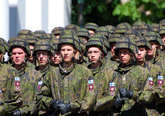 Soldados do Exército finlandês (foto de arquivo)