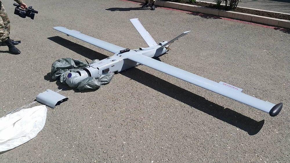 Este é o drone azeri abatido pelas forças armadas da autoproclamada República de Nagorno-Karabakh
