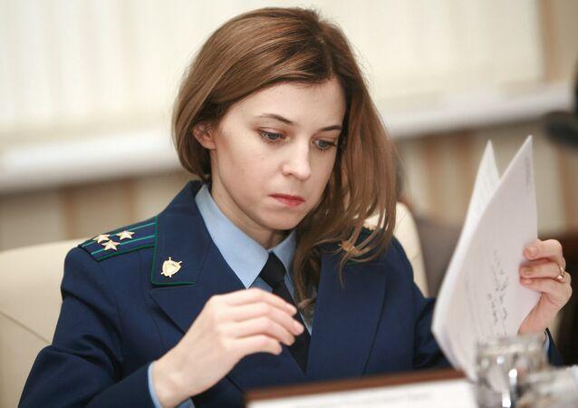 Promotora da Crimeia Natalia Poklonskaya