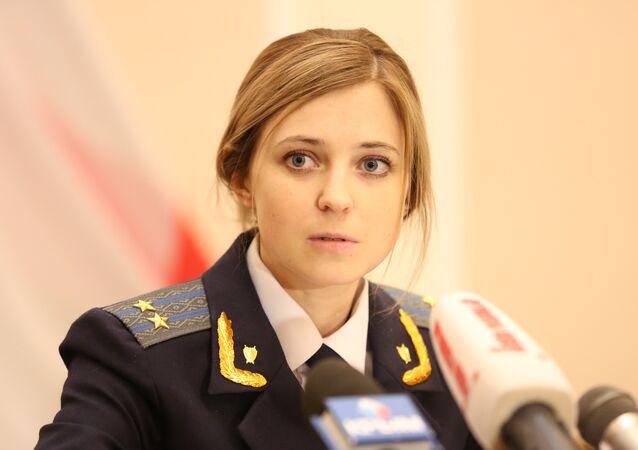 A promotora da Crimeia Natalia Poklonskaya