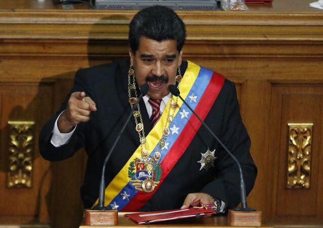Nicolás Maduro, presidente da Venezuela.