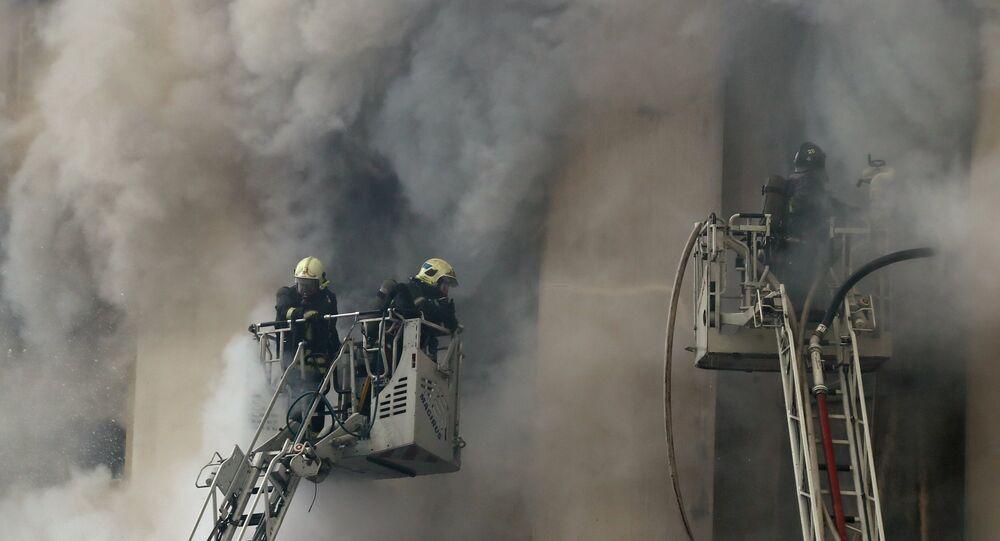 Um incêndio