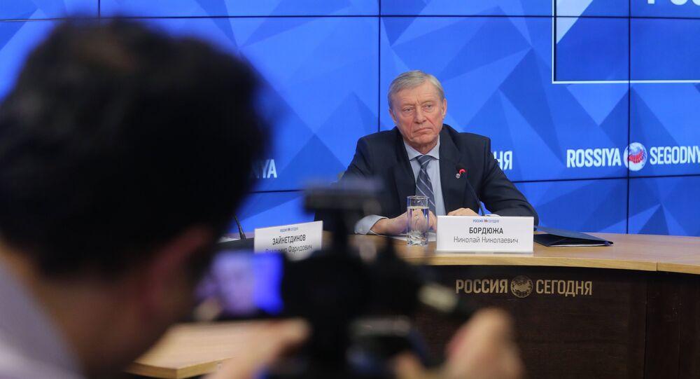 O secretário-geral da Organização do Tratado de Segurança Coletiva (OTSC na sigla em inglês) Nikolai Bordyuzha