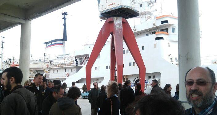 Admiral Vladimirsky no porto de Lisboa
