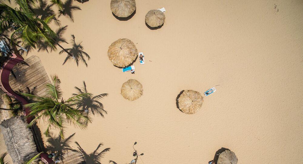 Praia na Venezuela