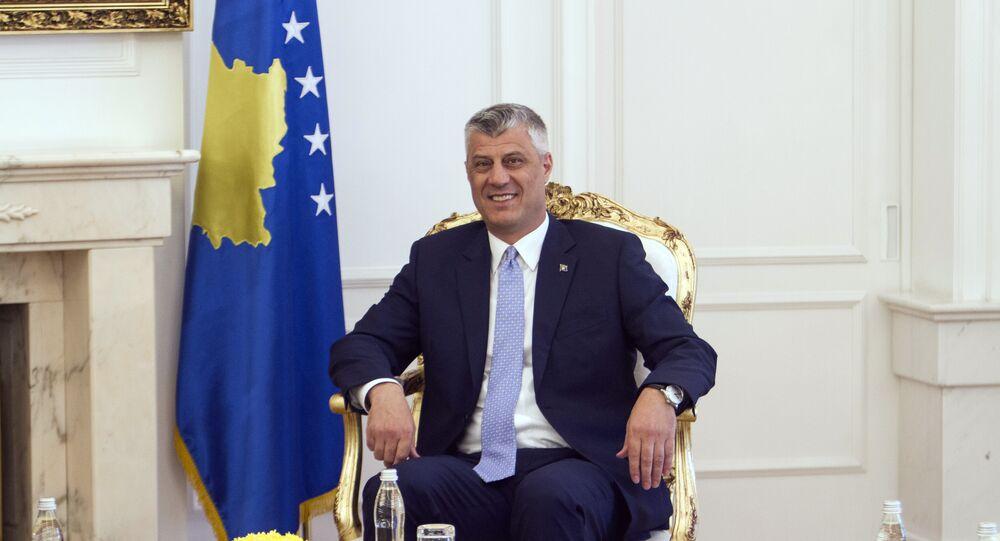 Hashim Thaci, presidente do Kosovo (arquivo)