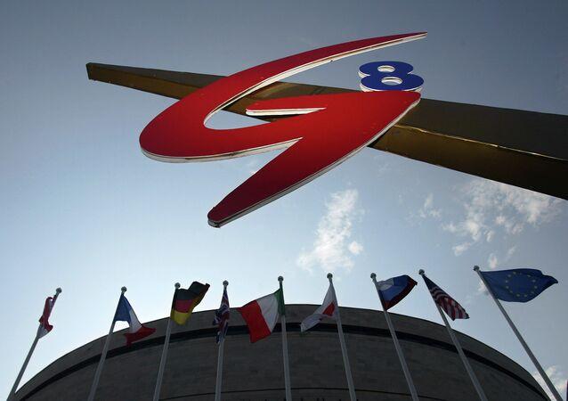 O emblema do G8