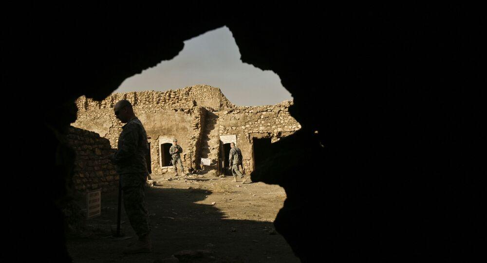 Soldados norte-americanos na base de operação de Mossul, no Iraque (foto de arquivo)
