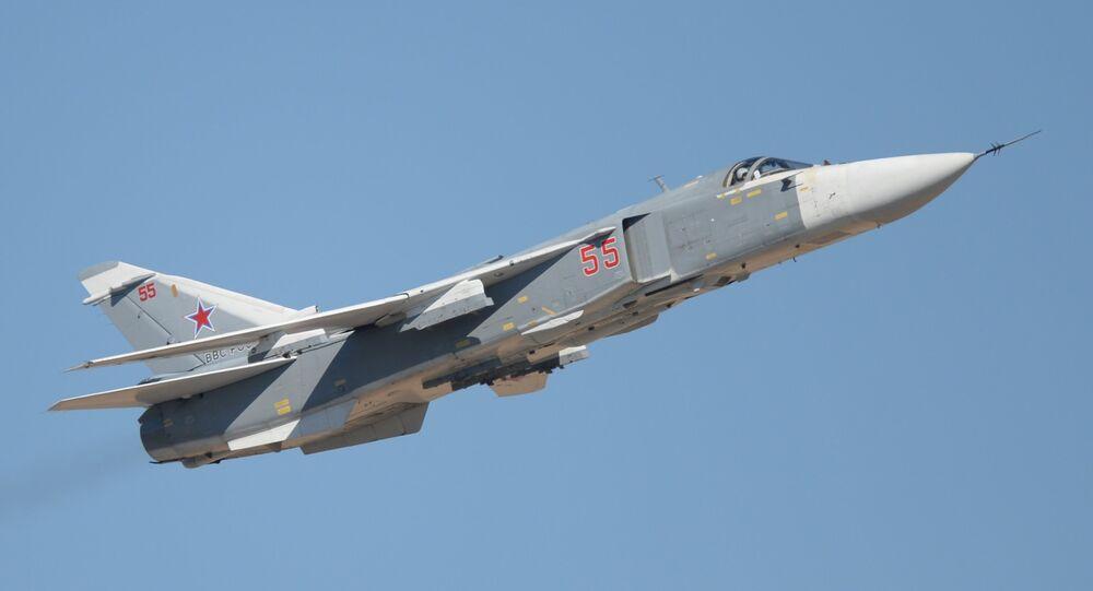Caça russo Su-24 (foto de arquivo)