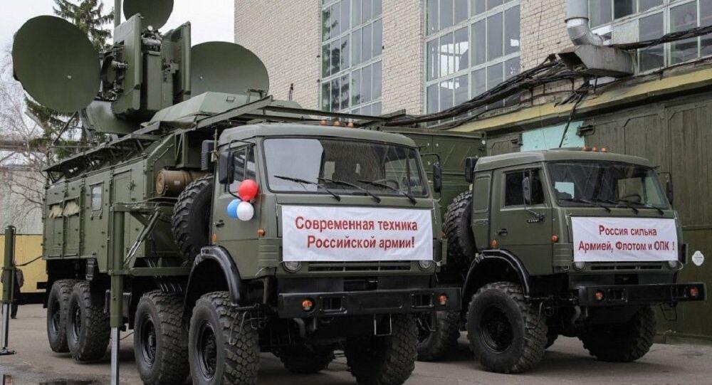 Krasukha 4 sistema da guerra eletrônica das Forças Armadas da Rússia