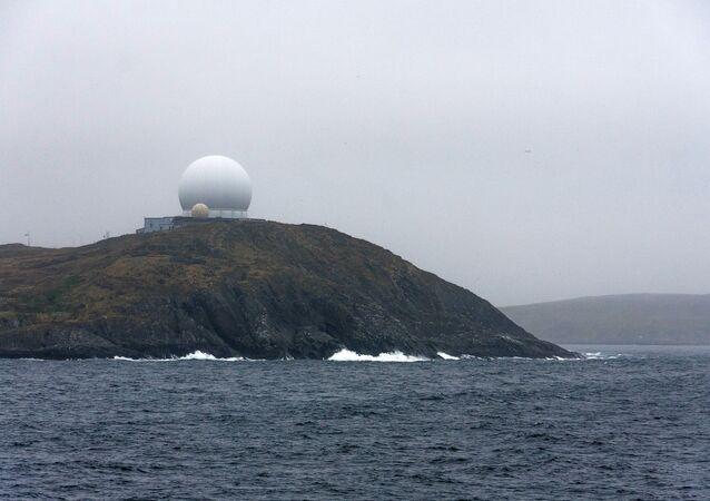 O radar Globus II em Vardo, Noruega