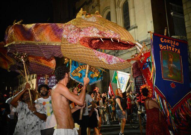 Blocos tradicionais do Carnaval carioca se uniram contra o impeachment