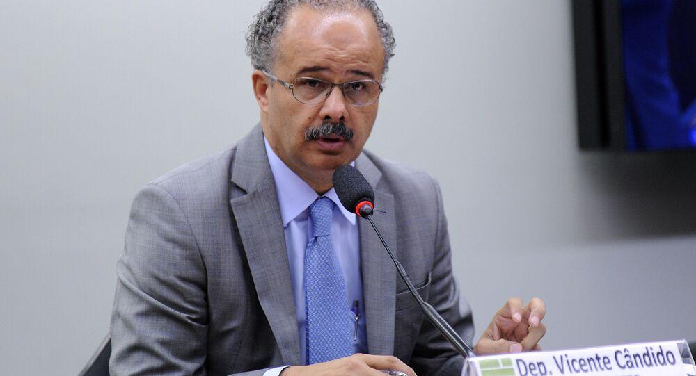 Vicente Cândido, deputado federal pelo PT-SP