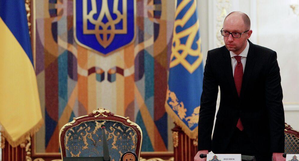 Primeiro-ministro da Ucrânia Arseny Yatsenyuk