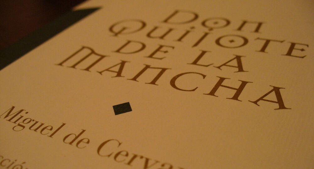 Livro Dom Quixote de La Mancha.