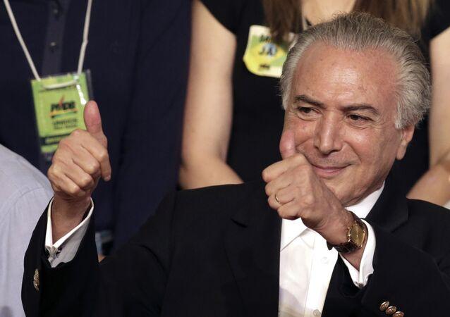 Vice-presidente do Brasil Michel Temer durante o Movimento Democrático do Brasil
