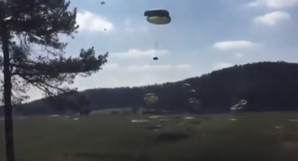 Watch These Army Humvees Violently Crash Into The Ground After A Failed Airdrop