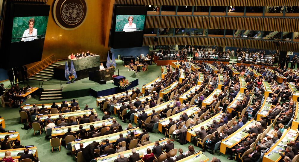 Presidenta Dilma Rousseff em pronunciamento na ONU