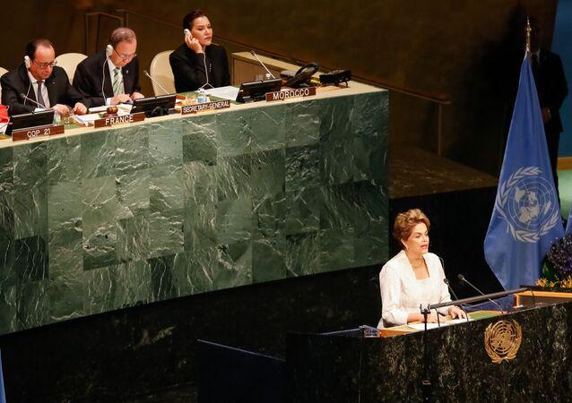 Presidenta Dilma Rousseff discursa na ONU