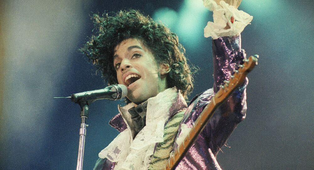 Rock singer Prince performs at the Forum in Inglewood, Calif., during his opening show, Feb. 18, 1985