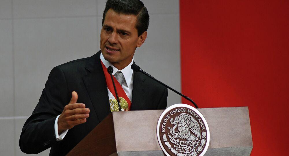 O presidente do México, Enrique Peña Nieto. 2 de setembro, 2015