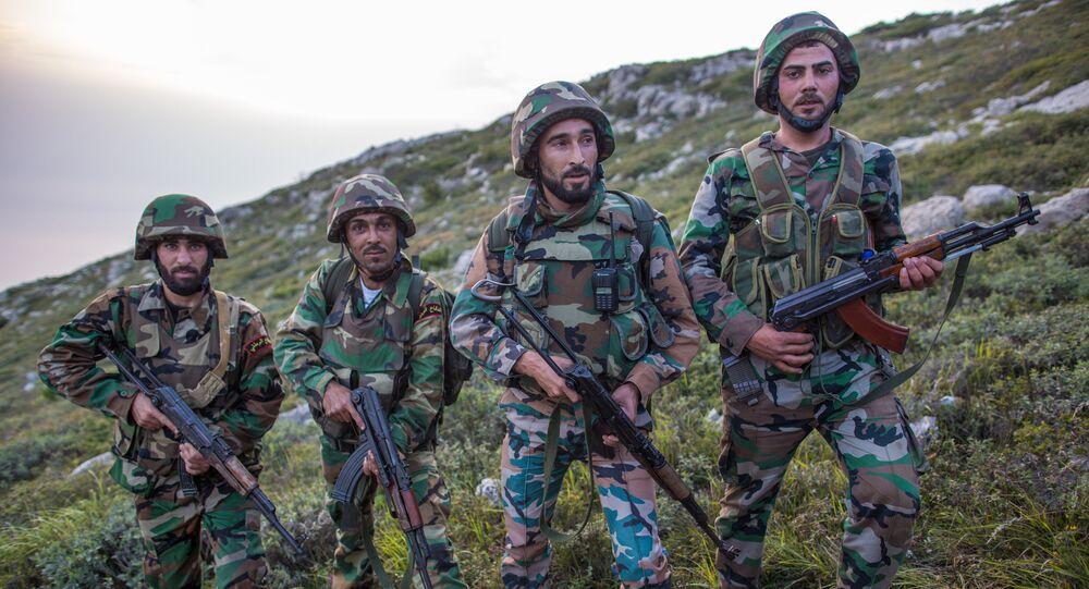 Sapadores-mineiros do exército da Síria (foto de arquivo)